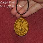 Angel of Light Cameo Locket & Pin