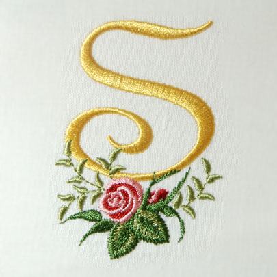 s alphabet designs  Heirloom Roses Alphabet- S
