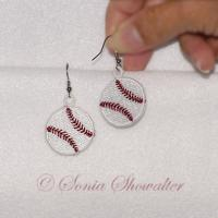 Baseball Beads with Earrings Charms