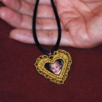 Heart Locket and Pendants ( Free Standing Lace)