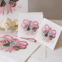 Heirloom Roses Ribbon Cards ( For Printing)