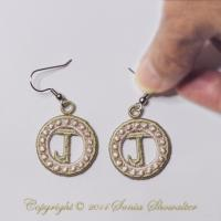 Charmed Earrings Alphabet- J