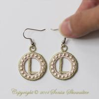 Charmed Earrings Alphabet- L
