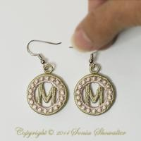 Charmed Earrings Alphabet- M