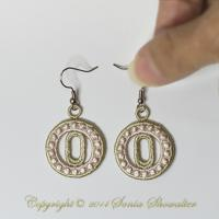 Charmed Earrings Alphabet- O