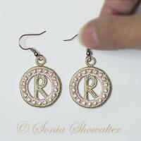 Charmed Earrings Alphabet- R