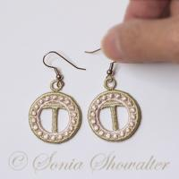 Charmed Earrings Alphabet- T