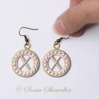 Charmed Earrings Alphabet- X