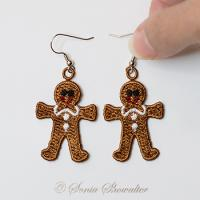 Gingerbread Boys Earrings