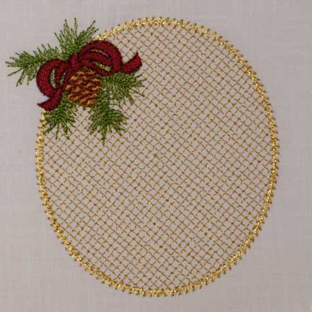 Christmas Pine Monogram Blank
