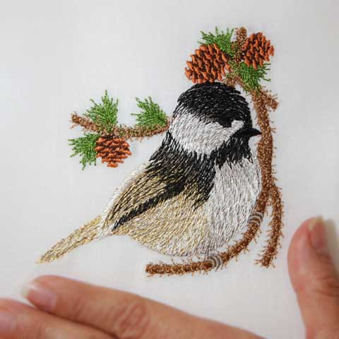 Christmas Pine Chickadee