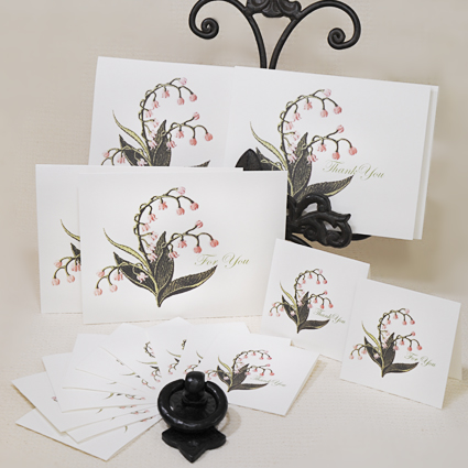 Lily of the Valley Cards ( For PRINTING)