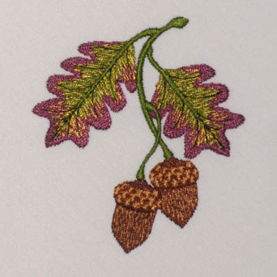 Pretty Acorn & Oak Leaves