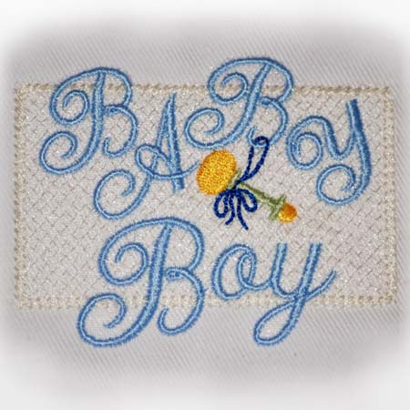 Baby Boy Motif