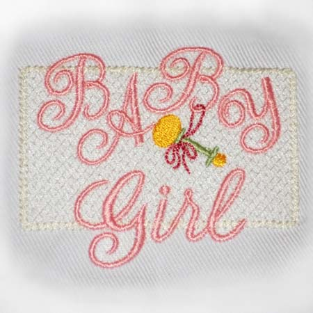 Baby Girl Motif