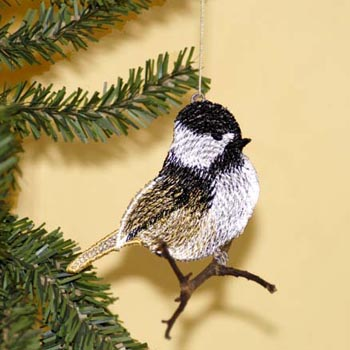 Chickadee Ornament (Free Standing Lace)