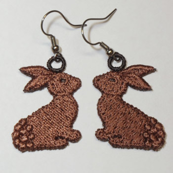 Chocolate Bunnies Earrings