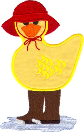 Duck in Galoshes (applique)