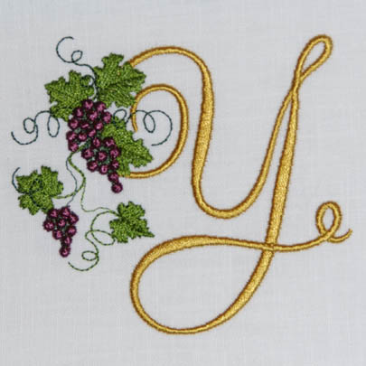 Alphabet embroidery patterns instant download fruit of the vine alphabet y thecheapjerseys Images