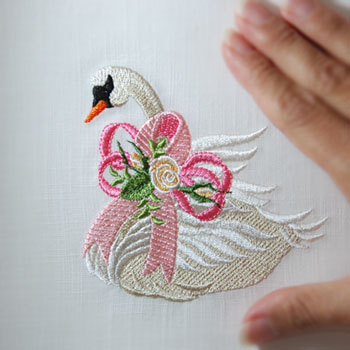 Heirloom Cancer Awareness Swan