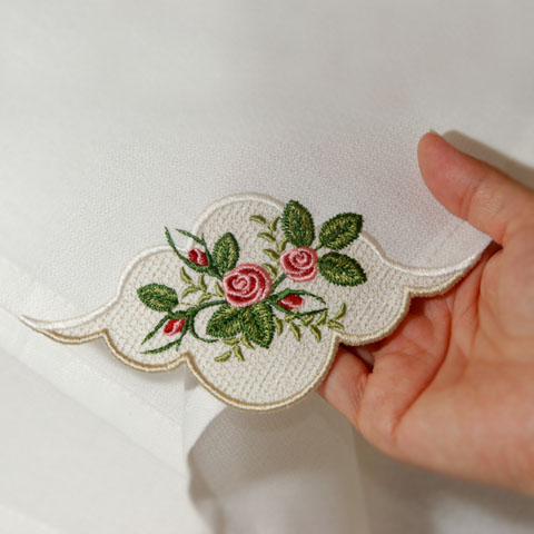 Heirloom Roses Napkin Corner