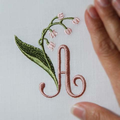 Lily of the Valley Alphabet- A