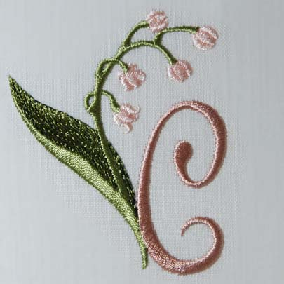 Lily of the Valley Alphabet- C