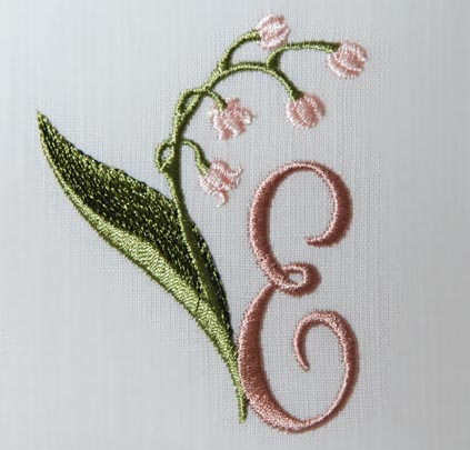 Lily of the Valley Alphabet- E