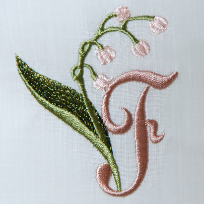 Lily of the Valley Alphabet- F