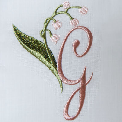Lily of the Valley Alphabet- G