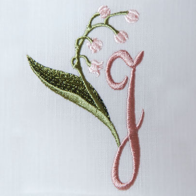Lily of the Valley Alphabet- J