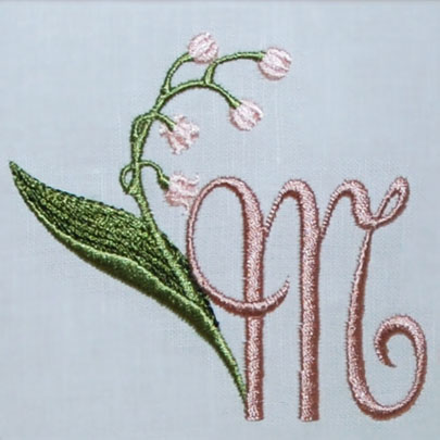 Lily of the Valley Alphabet- M