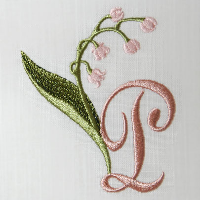 Lily of the Valley Alphabet- P