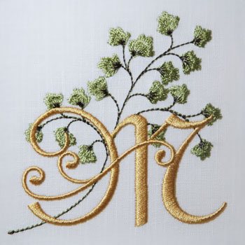 Maidenhair Fern Alphabet- M