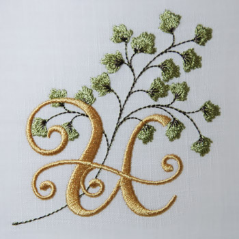 Maidenhair Fern Alphabet- U