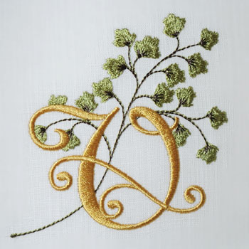 Maidenhair Fern Alphabet- V