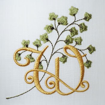 Maidenhair Fern Alphabet- W