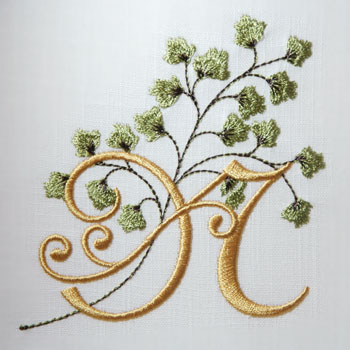 Maidenhair Fern Alphabet- N