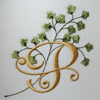 Maidenhair Fern Alphabet- P