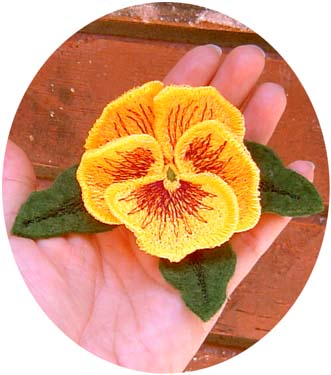Pansy Pin or Magnet
