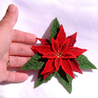 Poinsettia Pin or Magnet