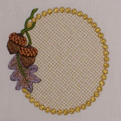 Pretty Acorn Monogram Blank