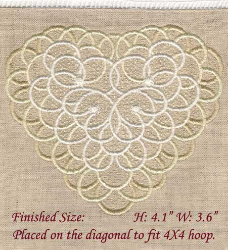 Pretty Heart For Fabric ( Large)