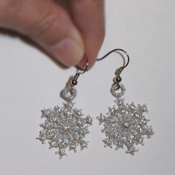 Snowflake Earrings Short