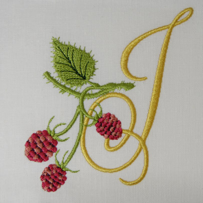 Wild Raspberries Alphabet- J