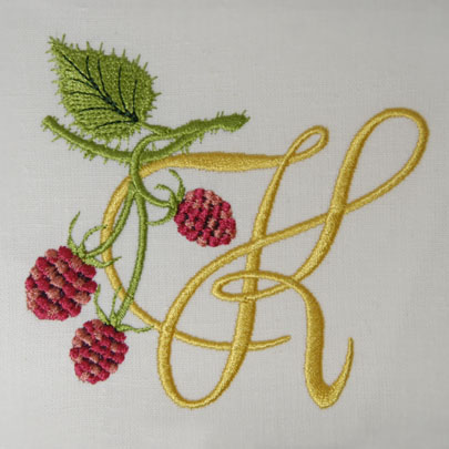 Wild Raspberries Alphabet- K
