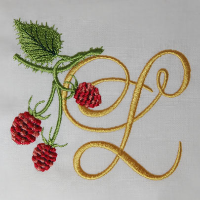 Wild Raspberries Alphabet- L