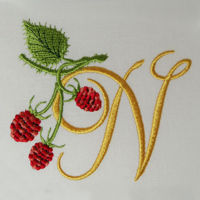 Wild Raspberries Alphabet- N