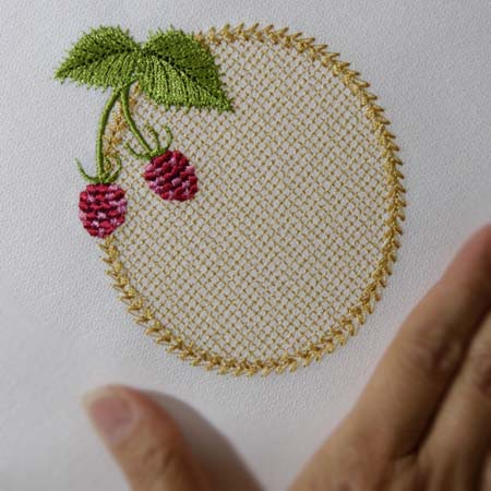 Wild Raspberries Monogram Blank