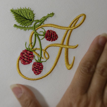 Wild Raspberries Alphabet- A